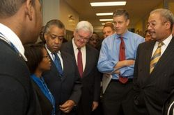 Secretary Duncan, Gingrich, and Sharpton
