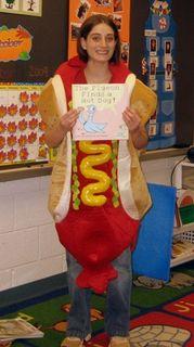 Ellen as a hot dog