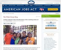 White house blog screen shot