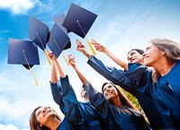 GraduatesCapsInAir