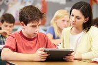 Teacher and Tablet